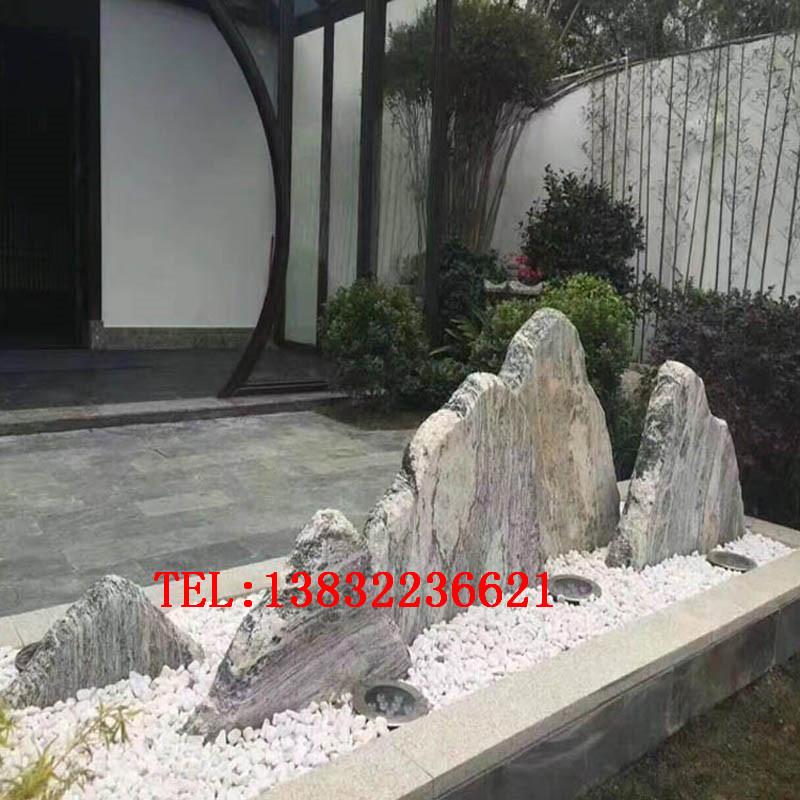 庭院别墅枯山水假山石造景供应商